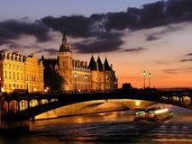 De Zegen van de rivier in Parijs Stock Foto's