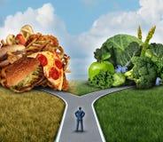 Decisione di dieta Fotografie Stock