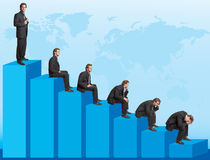 Declining chart Royalty Free Stock Photos