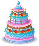 Decorated birthday cake 1 Royalty Free Stock Photo
