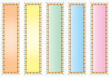 Decorated colorful banners Royalty Free Stock Photos