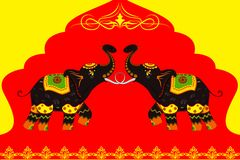Decorated Elephant showing Indian culture Stock Photos