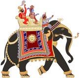 Decorated indian elephant Stock Photos