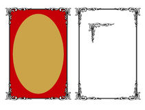 Decoratief Frame. JPG en EPS Stock Afbeeldingen