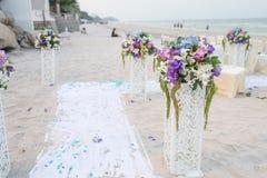 Decoration of wedding flowers Royalty Free Stock Image