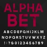 Decorative alphabet vector font. Royalty Free Stock Photo
