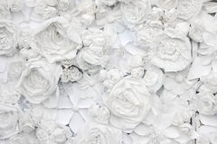 Decorative background from white paper flowers Royalty Free Stock Photography