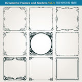 Decorative borders and frames Art Nouveau style vector Royalty Free Stock Photography