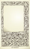 Decorative frame in art nouveau style. Detailed render Royalty Free Stock Image