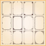Decorative frames and borders set vector Stock Photo