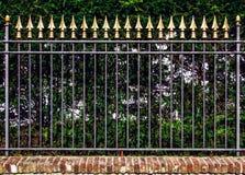 Decorative iron fence Stock Photography