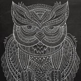 Decorative ornamental Owl Stock Images