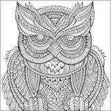 Decorative ornamental Owl background. Stock Images