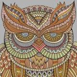 Decorative ornamental Owl background Stock Images