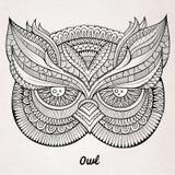 Decorative ornamental Owl head Royalty Free Stock Photography
