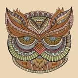 Decorative ornamental Owl head Stock Photos