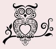 Decorative owl Royalty Free Stock Image