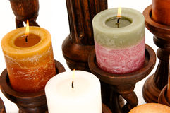 Decorative Scented Candles Royalty Free Stock Photos