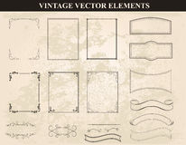 Decorative vintage frames and borders set vector Stock Photography