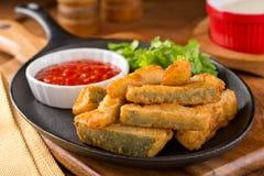 Deep Fried Zucchini Sticks Stock Photo
