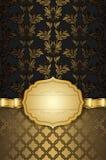 Dekorativer Hintergrund mit Rahmen- und Goldband Lizenzfreie Stockfotografie