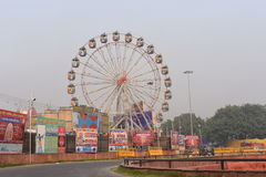 Delhi, India: October 18, 2015: Carnival setup on the occasion of dusshera Indian Festival at Red Fort, Delhi, India Stock Photo