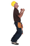 Delighted construction worker Royalty Free Stock Photo