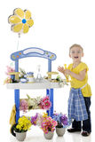Delighted Little Florist Stock Photos