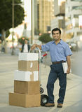 Delivery of Boxes Royalty Free Stock Photography