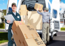 Delivery courier. Royalty Free Stock Photography