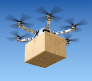 Delivery drone with post package Royalty Free Stock Images