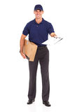 Delivery man parcel Stock Photos