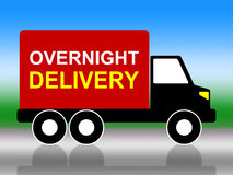 Delivery Overnight Represents Next Day And Transportation Royalty Free Stock Photos