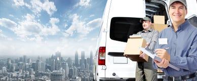 Delivery postman. Stock Photos