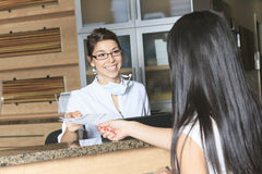 Dental Assistance Receptionist Appointment Stock Photo