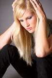 Depressed young woman Stock Photo