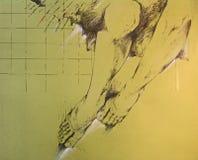 Desenho dos pés da mulher Imagens de Stock