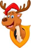 Desenhos animados bonitos do Natal dos cervos Fotografia de Stock