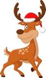 Desenhos animados bonitos do Natal dos cervos Foto de Stock Royalty Free