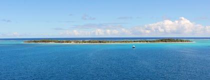 Desert island in Pacific Ocean, Micronesia Royalty Free Stock Image