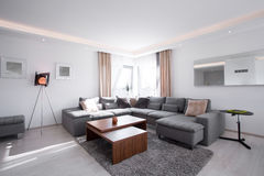 Designed interior with modern furniture Royalty Free Stock Image