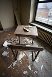 Desk in abandoned building Royalty Free Stock Photos