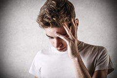 Desperate young man Royalty Free Stock Photography