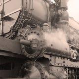 Detail of a steam locomotive Stock Photos