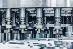 Details of the machine,drinks production plant Royalty Free Stock Images