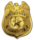 Detective Police Badge Stock Images