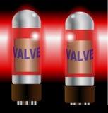 Deux valves chaudes d'amplificateur Photographie stock libre de droits