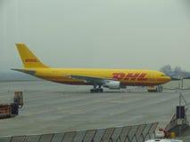 DHL aircraft Royalty Free Stock Photo