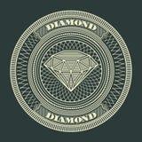 Diamond circle decorative Stock Photos