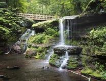 Diamond Notch Water Falls - montañas de Catskill Imagenes de archivo